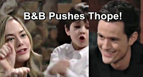 The Bold and the Beautiful Spoilers: B&B Moves Forward with 'Thope' – Is Thomas and Hope Pairing Sweet or Creepy?