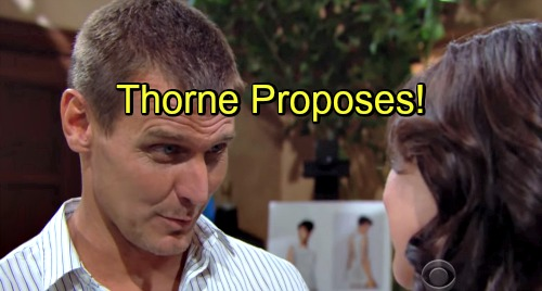 The Bold and the Beautiful Spoilers: Thorne Pops The Question To Katie - Katie Faces Life-Altering Decision