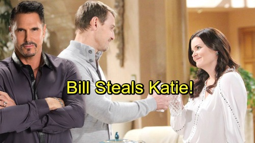 The Bold and the Beautiful Spoilers: Bill and Katie Feel Familiar Spark, 'Batie' Back On – Thorne's No Match for Sneaky Rival