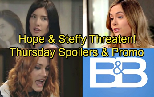 The Bold and the Beautiful Spoilers: Thursday, July 12 – Steffy and Hope Exchange Fierce Threats – Conflicted Liam Confides in Wyatt