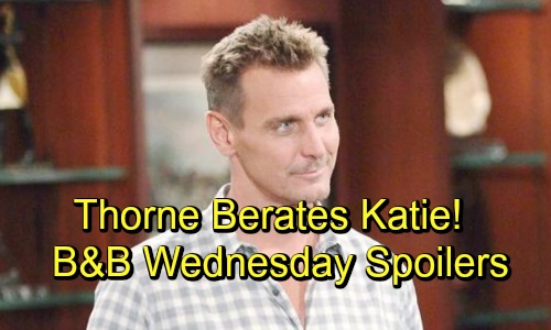 The Bold and the Beautiful Spoilers: Wednesday, October 17 - Hope Confronts Brooke - Thorns Wants Answers From Katie