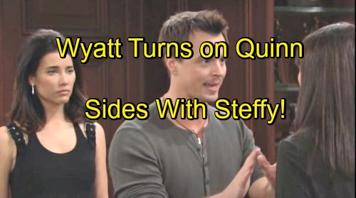 The Bold and the Beautiful Spoilers: Wyatt Turns Against Quinn, Sides with Ridge and Steffy – Caroline's Love Stuns Thomas