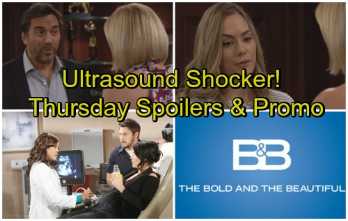The Bold and the Beautiful Spoilers: Thursday, April 26 – Ultrasound Shocker for Steffy and Liam – Ridge Explodes at Meddling Hope