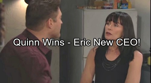 'The Bold and the Beautiful' Spoilers: Eric Shocks Family by Naming Himself FC's New CEO – Deacon Grills Quinn About Scam