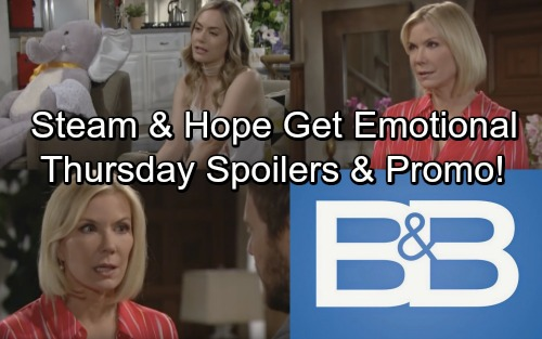 The Bold and the Beautiful Spoilers: Thursday, June 14 – Liam, Steffy and Hope Share Emotional Moment – Brooke Can't Let Go