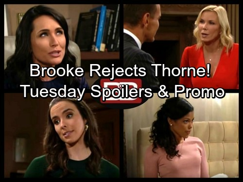 The Bold and the Beautiful Spoilers: Maya Learns Juicy Secret – Brooke Rejects Thorne – Quinn and Ivy Love Triangle Predictions