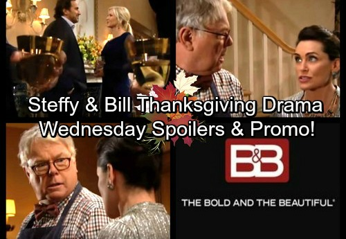 The Bold and the Beautiful Spoilers: Wednesday, November 22 - Quinn Puts Bill and Steffy in an Awkward Situation