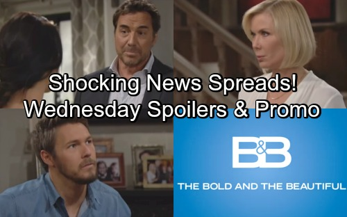 The Bold and the Beautiful Spoilers: Wednesday, May 9 – Liam and Hope Spread Shocking News – Ridge Insists Bill Sabotaged Steffy