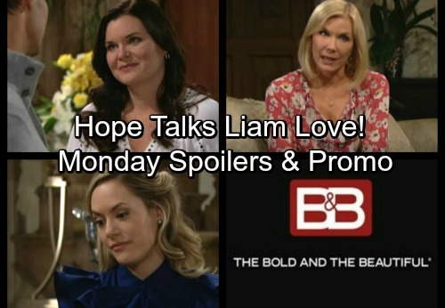 The Bold and the Beautiful Spoilers: Monday, February 5 - Hope Debates Liam Love – Katie Flirts With Thorne