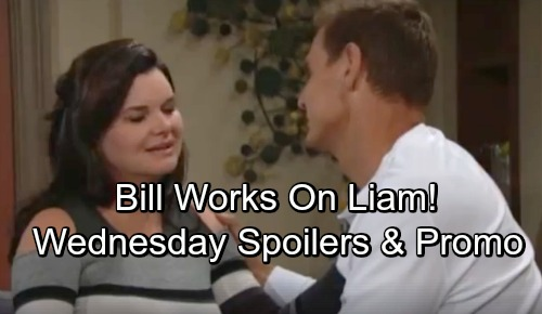 The Bold and the Beautiful Spoilers: Wednesday, September 26 – Bill Guilt-Trips Liam – Thorne Reassures Katie