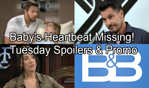 The Bold and the Beautiful Spoilers: Tuesday, September 4 - Hope Panics As Dr. Phillips Searches For Baby's Heartbeat