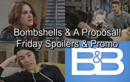The Bold and the Beautiful Spoilers: Friday, June 15 – Sally's Back with Big Bombshells – Liam Proposes to Steffy