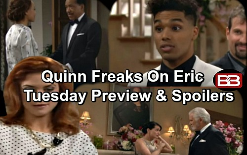 The Bold and the Beautiful Spoilers: Quinn Freaks Over Portrait Swap – Nicole and Zende's Wedding Kicks Off