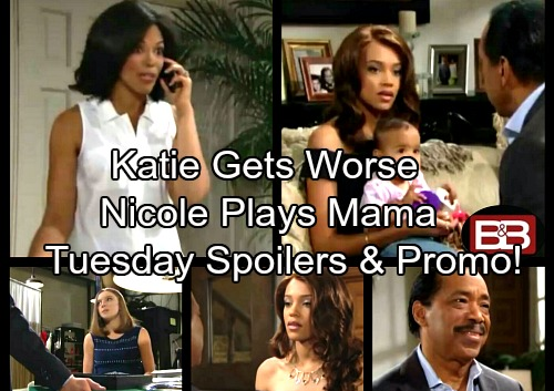 The Bold and the Beautiful Spoilers: Katie's Meltdown Gets Worse – Nicole Makes a Confession to Julius – Coco Has Concerns