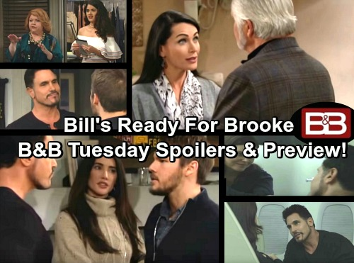 The Bold and the Beautiful Spoilers: Sally Mulls Over Intriguing Offer – Forresters Take Flight – Bill Senses Katie's Concerns