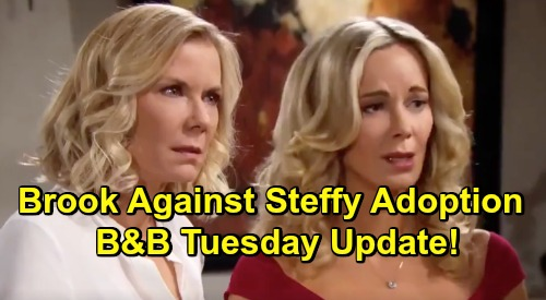 The Bold and the Beautiful Spoilers: Tuesday, April 16 Update – Flo Scam Rocks Shauna – Brooke & Hope Clash Over Steffy's Adoption