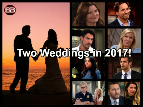The Bold and the Beautiful Spoilers: Big Reveal - Two B&B Weddings In 2017