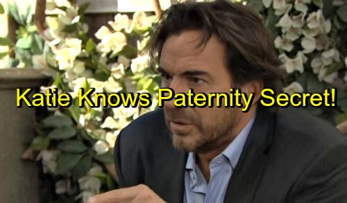 The Bold and the Beautiful (B&B) Spoilers: Katie Wants Paternity Answers - Baby Daddy Secret in Hands of Unstable Drunk