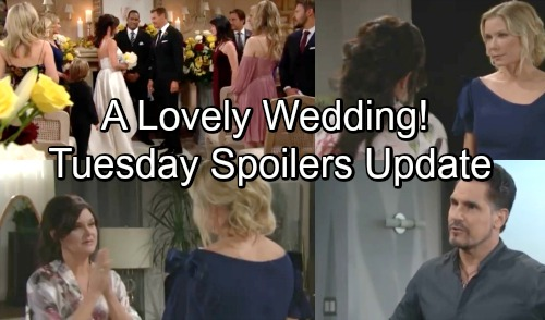The Bold and the Beautiful Spoilers: Tuesday, September 25 - Thorne and Katie Tie The Knot - Justin Worrie