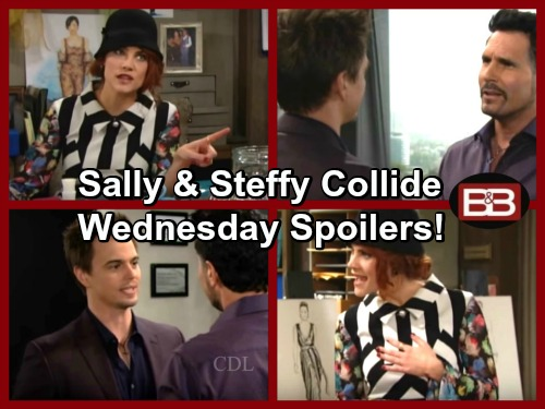 The Bold And The Beautiful Spoilers Sally Pushes Steffys Buttons