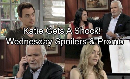 The Bold and the Beautiful Spoilers: Wednesday, June 27 – Hope Receives Troubling News – Sally's Thrilling Offer – Katie Gets a Shock
