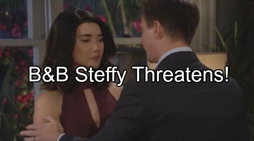 'The Bold and the Beautiful' Spoilers: Steffy Makes Threats, Wyatt Agrees to Handle Mom – Eric and Quinn Hot Romance at Mansion