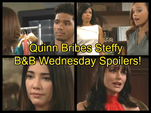 'The Bold and the Beautiful' Spoilers: Quinn Offers Steffy Co-CEO Job If She Leaves Liam and Reunites With Wyatt