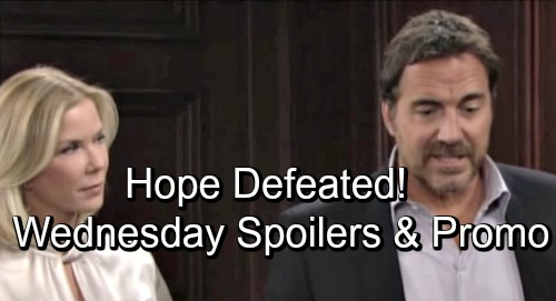 The Bold and the Beautiful Spoilers: Wednesday, September 19 – Sally and Steffy Shoot Down Hope – Ridge Suspects Bill's Plot