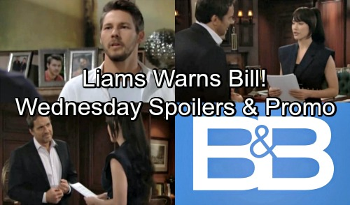The Bold and the Beautiful Spoilers: Wednesday, August 8 – Liam Forbids Bill Chasing After Steffy – Ridge Praises Steffy's New Path