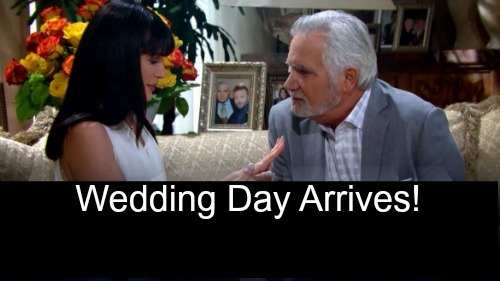 'The Bold and the Beautiful' Spoilers: Quinn and Eric's Wedding Day Arrives - Thorne and Felicia Return, Join Marriage Protest