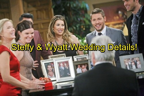 The Bold and the Beautiful (B&B) Spoilers: Steffy and Wyatt Wedding Details, Guest List - Quinn Attends Happy Celebration