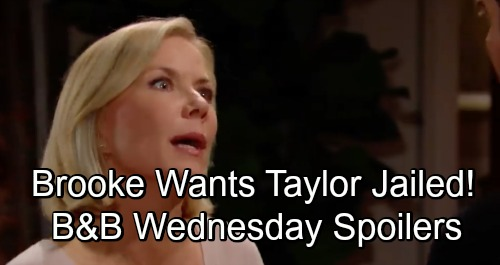 The Bold and the Beautiful Spoilers: Wednesday, December 5 - Brooke Shocked Bill Hasn't Turned Taylor In - Eric Gets An Eyeful