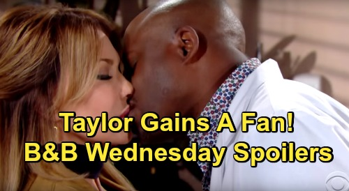 The Bold and the Beautiful Spoilers: Wednesday, December 12 - Reese Kisses Taylor - Steffy Worries About Her Mom