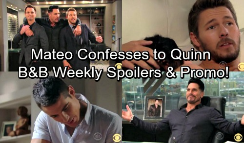 The Bold and the Beautiful Spoilers: Week of October 23 - Mateo Comes Clean To Quinn – Liam Won't Stop With Sally