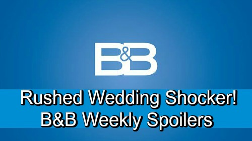 The Bold and the Beautiful Spoilers: Week of September 24 – Rushed Wedding Shocker - Hope and Steffy Agree!