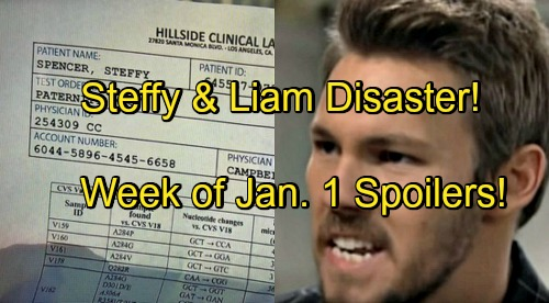 The Bold and the Beautiful Spoilers: Week of January 1-5 – Bill Rigged Paternity Test - Steffy and Liam's Marriage Broken