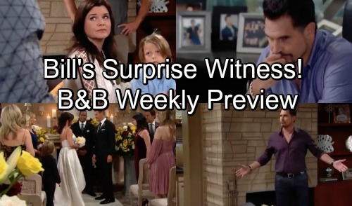The Bold and the Beautiful Spoilers: Hot Promo - Week of September 24 – Bill's Surprise Witness Brings Chaos – Thorne and Katie Wed