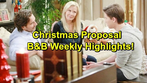 The Bold and the Beautiful Spoilers: Brooke Thrilled Over Ridge's Proposal, Bill Schemes – Eric Gets Some Christmas Magic