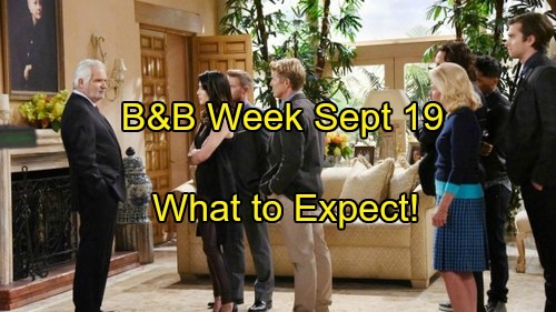 'The Bold and the Beautiful' Spoilers: Week of September 19 - Surprising News, Last-Ditch Efforts and Wedding Shockers