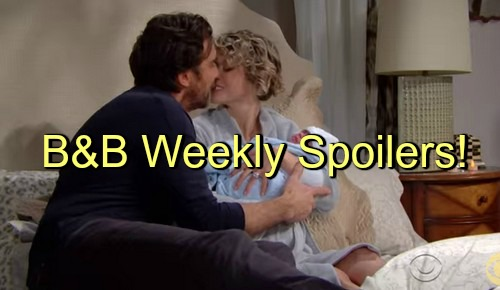 The Bold and the Beautiful (B&B) Spoilers: Week of March 7 - Caroline Gives Birth - Steffy Question Liam's Disappearance