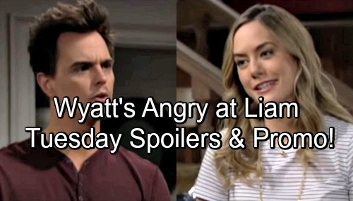 The Bold and the Beautiful Spoilers: Tuesday, April 24 – Wyatt Objects to Liam's Huge News – Ridge and Brooke Spar Over Hope