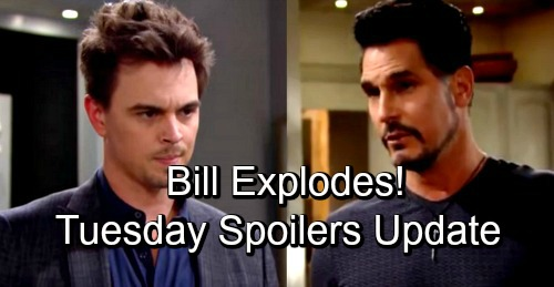 The Bold and the Beautiful Spoilers: Tuesday, October 16 Update - Bill Explodes on Wyatt - Brooke Tries Desperately To Save Marriage