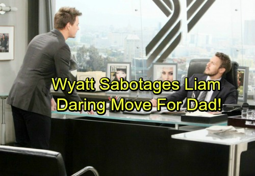 The Bold and the Beautiful Spoilers: Wyatt Sabotages Liam For Bill With Daring Move