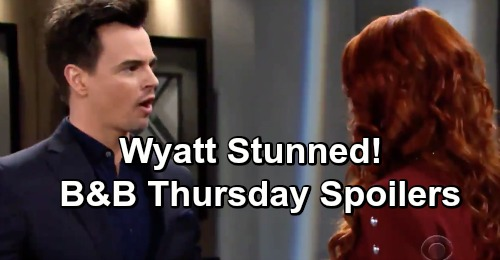 The Bold and the Beautiful Spoilers: Thursday, March 28 - Quinn's Forced Apology - Wyatt Stunned By Sally's News