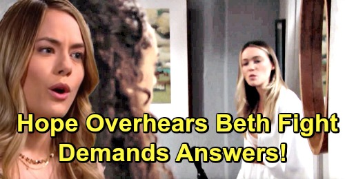 The Bold and the Beautiful Spoilers: Hope Overhears Flo and Zoe Baby Swap Showdown – Demands Answers About Beth