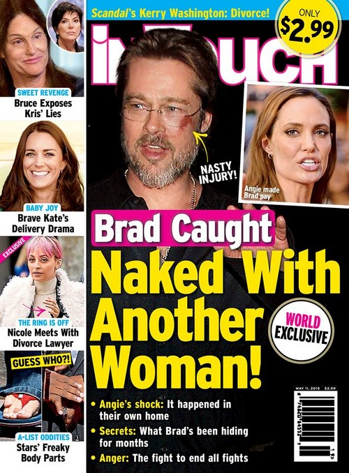 Angelina Jolie Catches Brad Pitt Cheating Naked in Bed at Home With Another Woman?