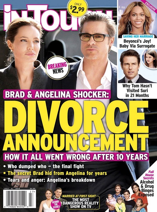 Angelina Jolie, Brad Pitt Divorce: Breakup Of Brangelina - Couple Agrees To Fake Marriage Until 'By The Sea' Movie Is Released