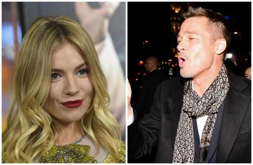 Brad Pitt Spotted Flirting With Sienna Miller: Reminds Brad of Jennifer Aniston?