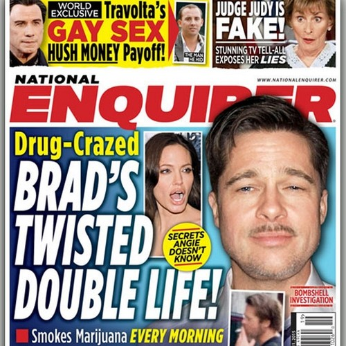 Brad Pitt Leading Double Life of Drugs and Sex - Angelina Jolie Furious?