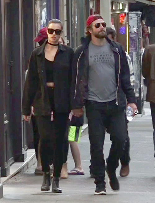 Exclusive... Bradley Cooper & Irina Shayk Pack On The PDA In Paris